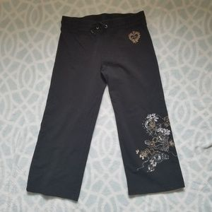 BCBGMaxAzaria Embroidered Sweatpants